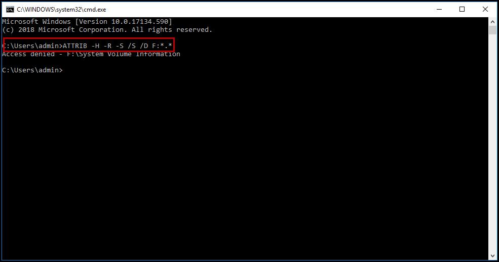recuperar archivos con CMD