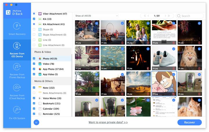 previsualizar y recuperar datos perdidos del iPhone 6s