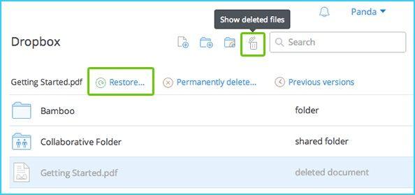 recuperar archivos en linea gratis con dropbox