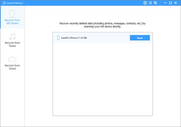 EaseUs MobiSaver Free es otro software de recuperación de datos de iPhone fácil de usar pero completamente gratuito