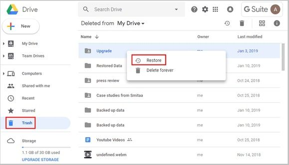 recuperar archivos online gratis con google drive