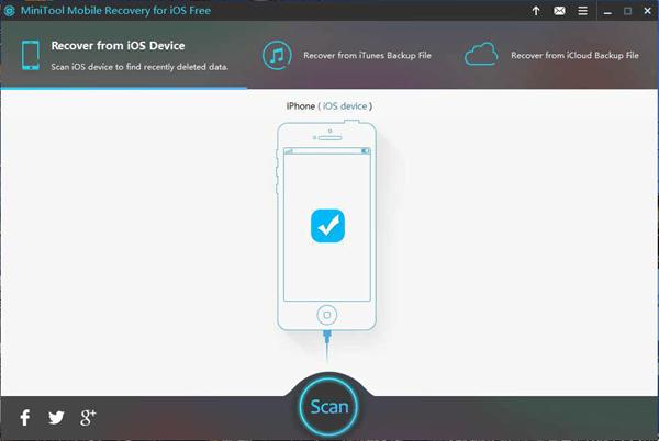 La lista del mejor software gratuito de recuperación de iPhone estaría incompleta sin MiniTool Mobile Recovery para iOS Free.