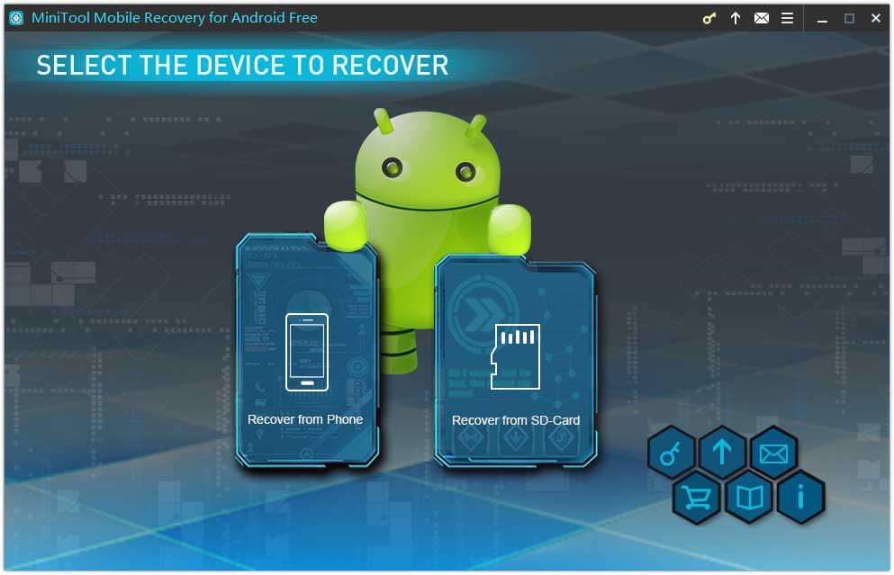 interfaz principal de MiniTool Mobile Recovery para Android
